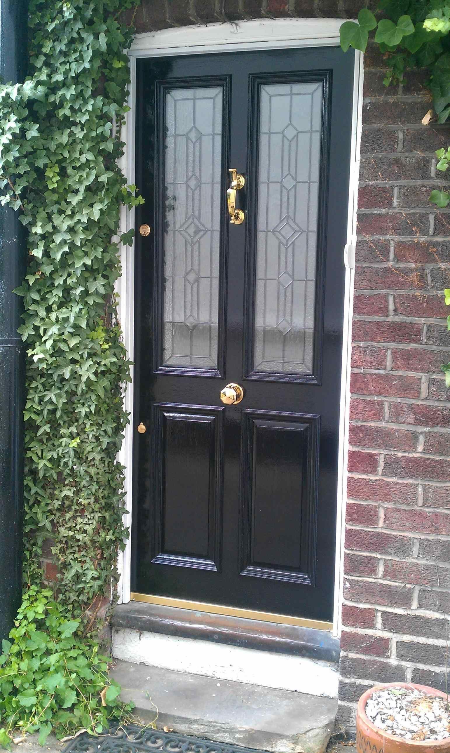 Charming Black Door Fix Lovely How To Paint Your Storm Black Double Entry Door  Hardware Front Door