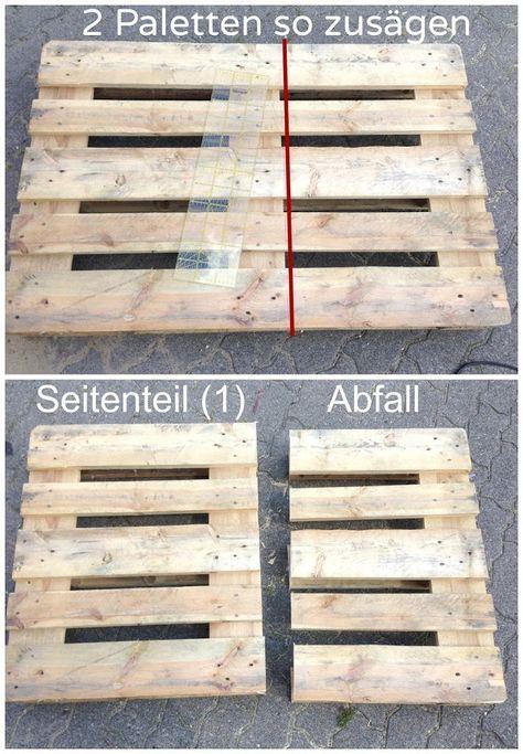 Möbel aus Paletten bauen - Anleitung   pallets   Pinterest   Pallets ...