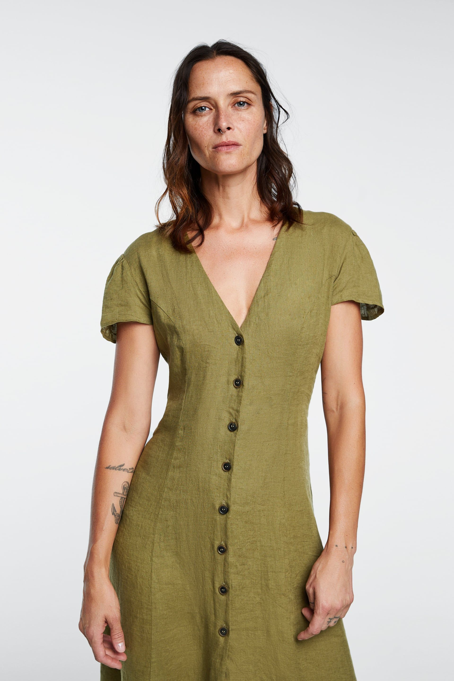 3f39bfa9 Image 2 of LONG LINEN DRESS from Zara Dresses With Sleeves, Short Sleeves,  Linen