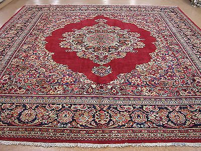 12 X 14 Persian Mahal Hand Knotted Wool Large Red Blue Traditional Oriental Rug Rugs Oriental Rug Oriental Persian Rugs