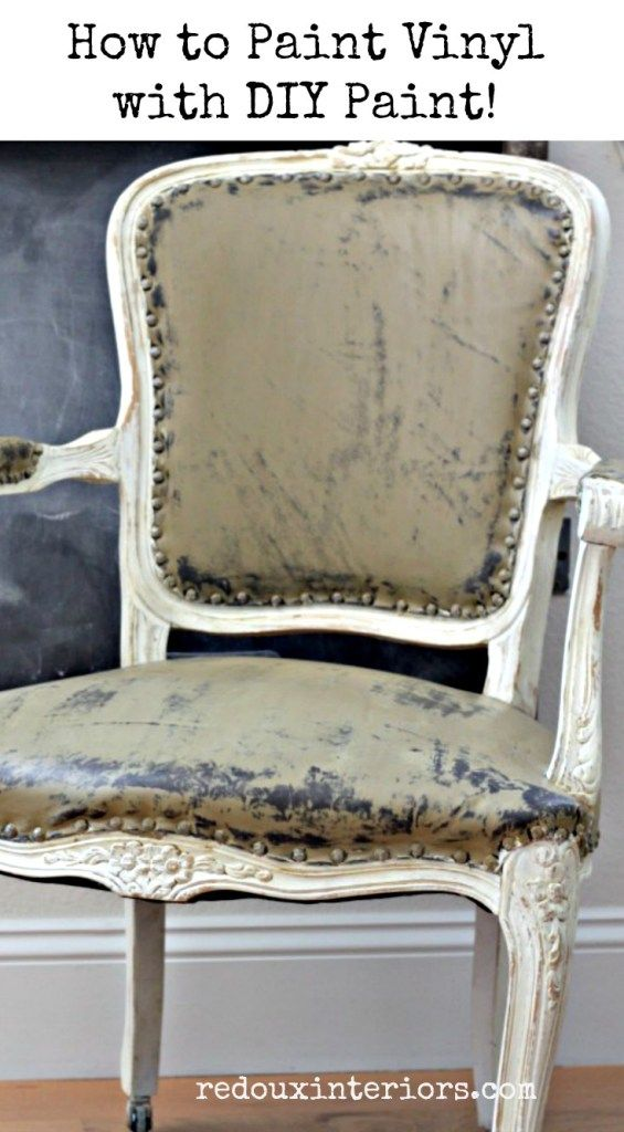 How To Paint Vinyl Furniture. The Easiest Way To Paint Vinyl Furniture With  DIY Paint