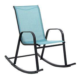 Blue Spa Sling Rocker Rocking Chairrockersoutdoor