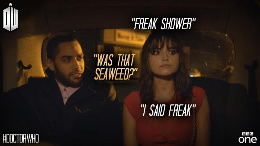 Image result for clara oswald freak shower