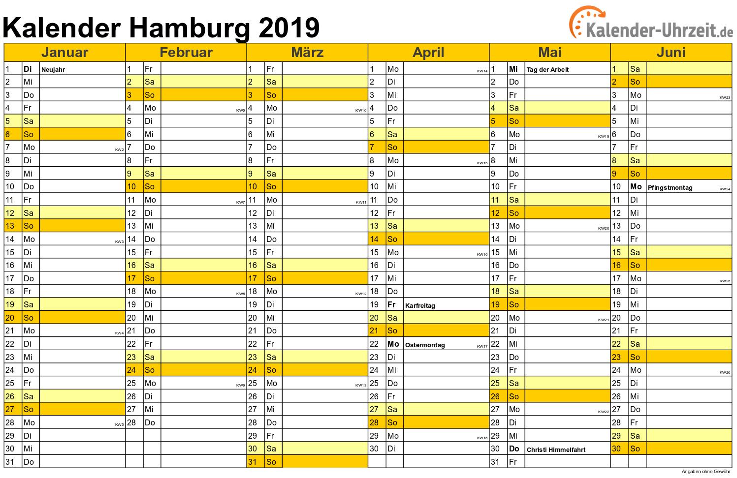 feiertage 2019 hamburg