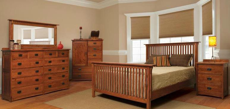 American Mission Four Piece Queen Bedroom Set by Witmer