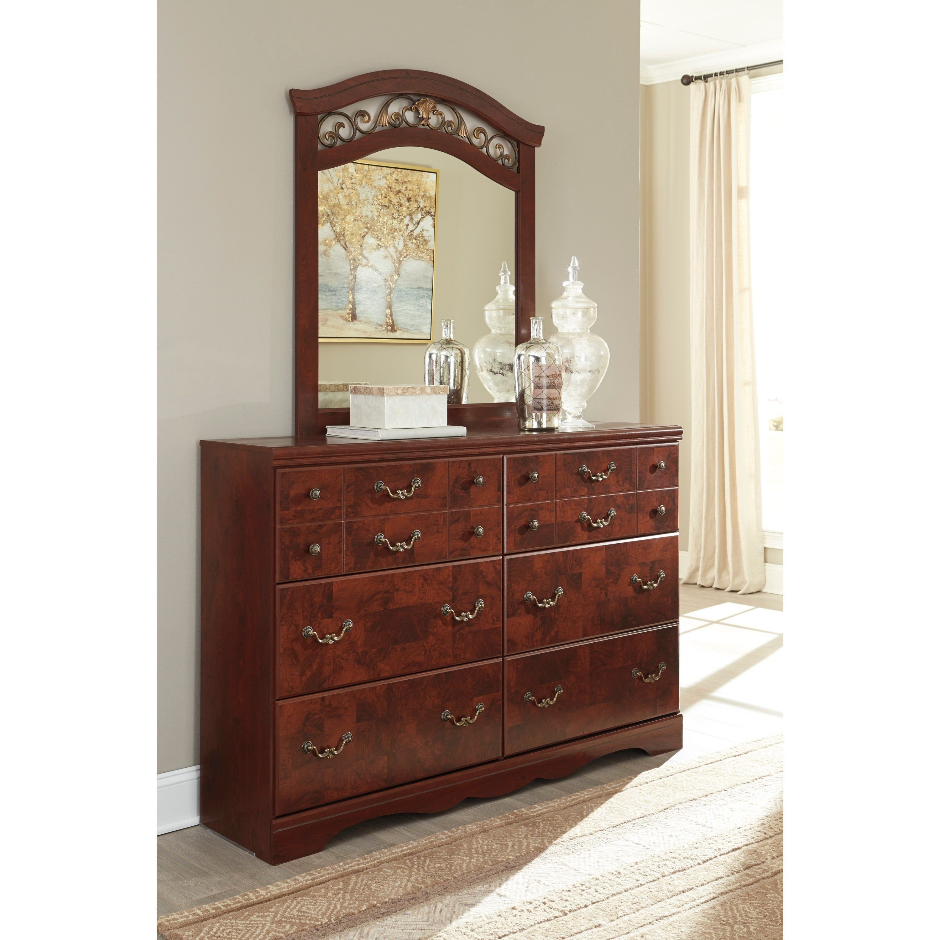 Signature design by ashley delianna brown dresser with mirror dresser with mirror