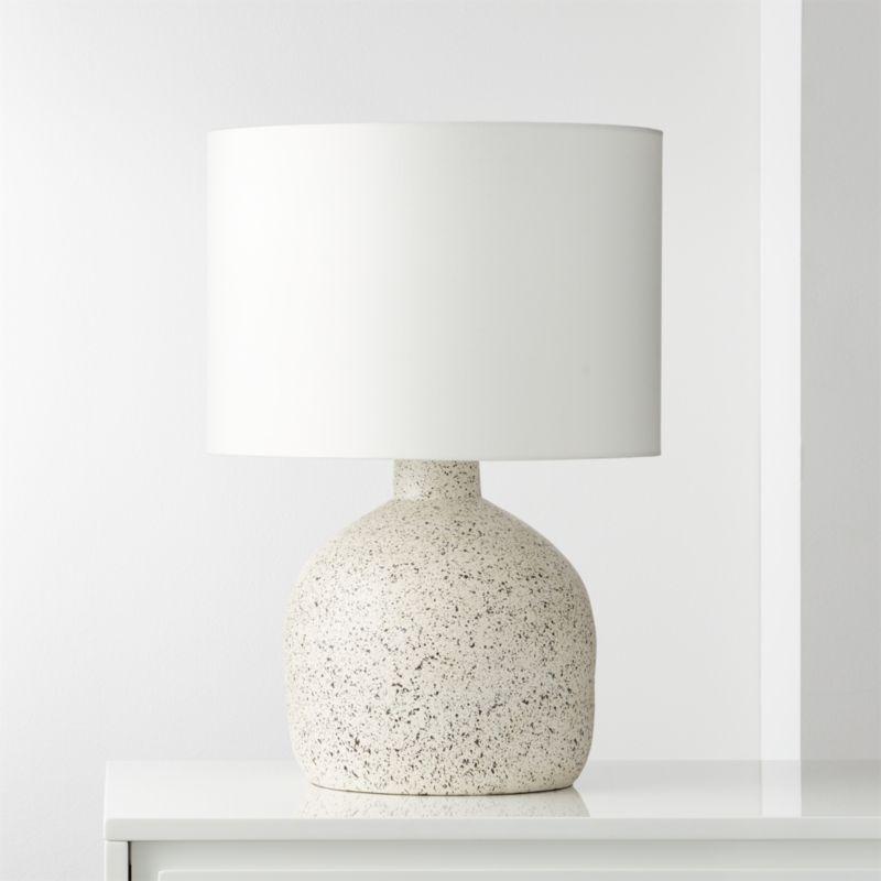 Largo Speckled White Ceramic Table Lamp Reviews Cb2 Concrete Table Lamp Ceramic Table Lamps Pink Table Lamp
