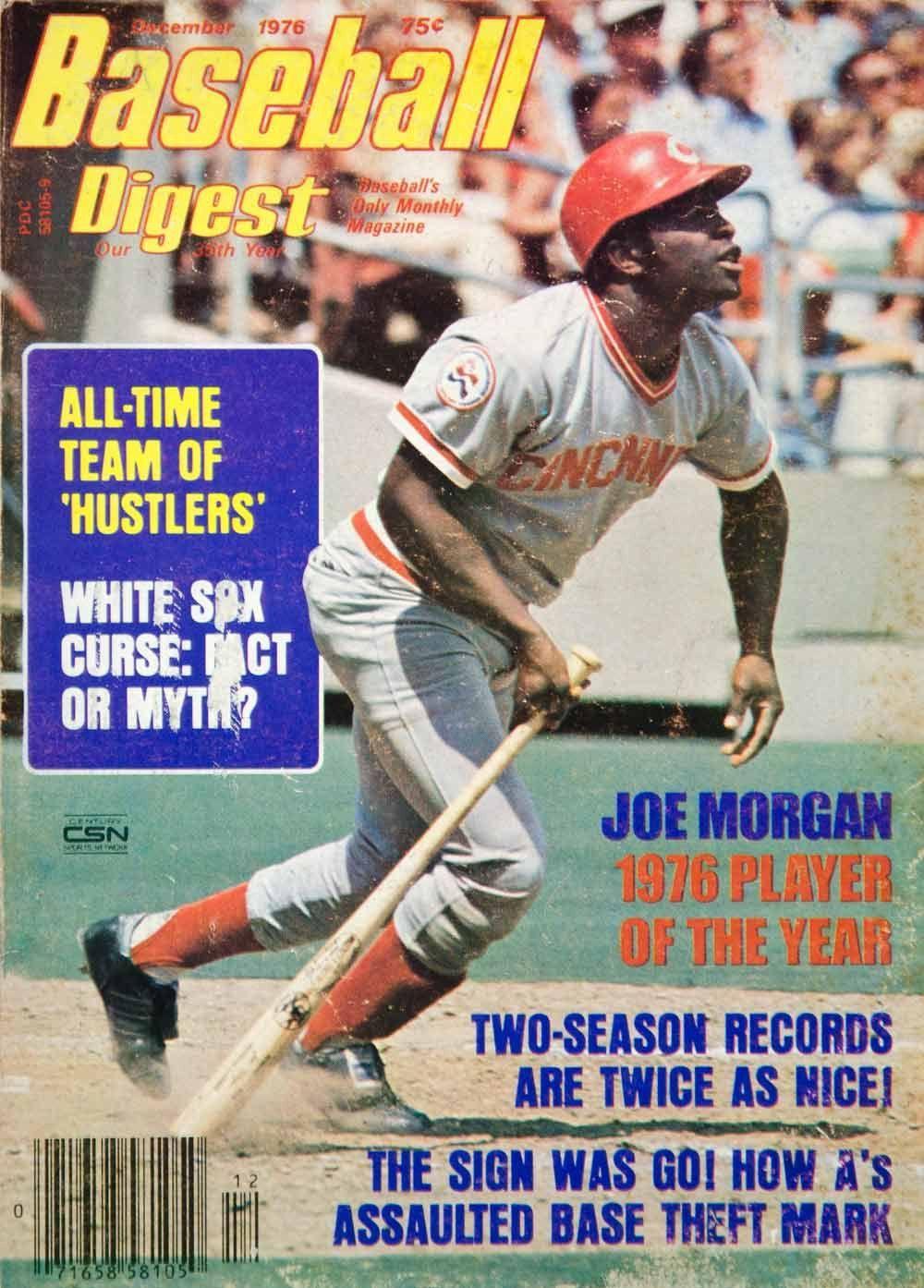 1976 Cover Baseball Digest Joe Cincinnati Reds