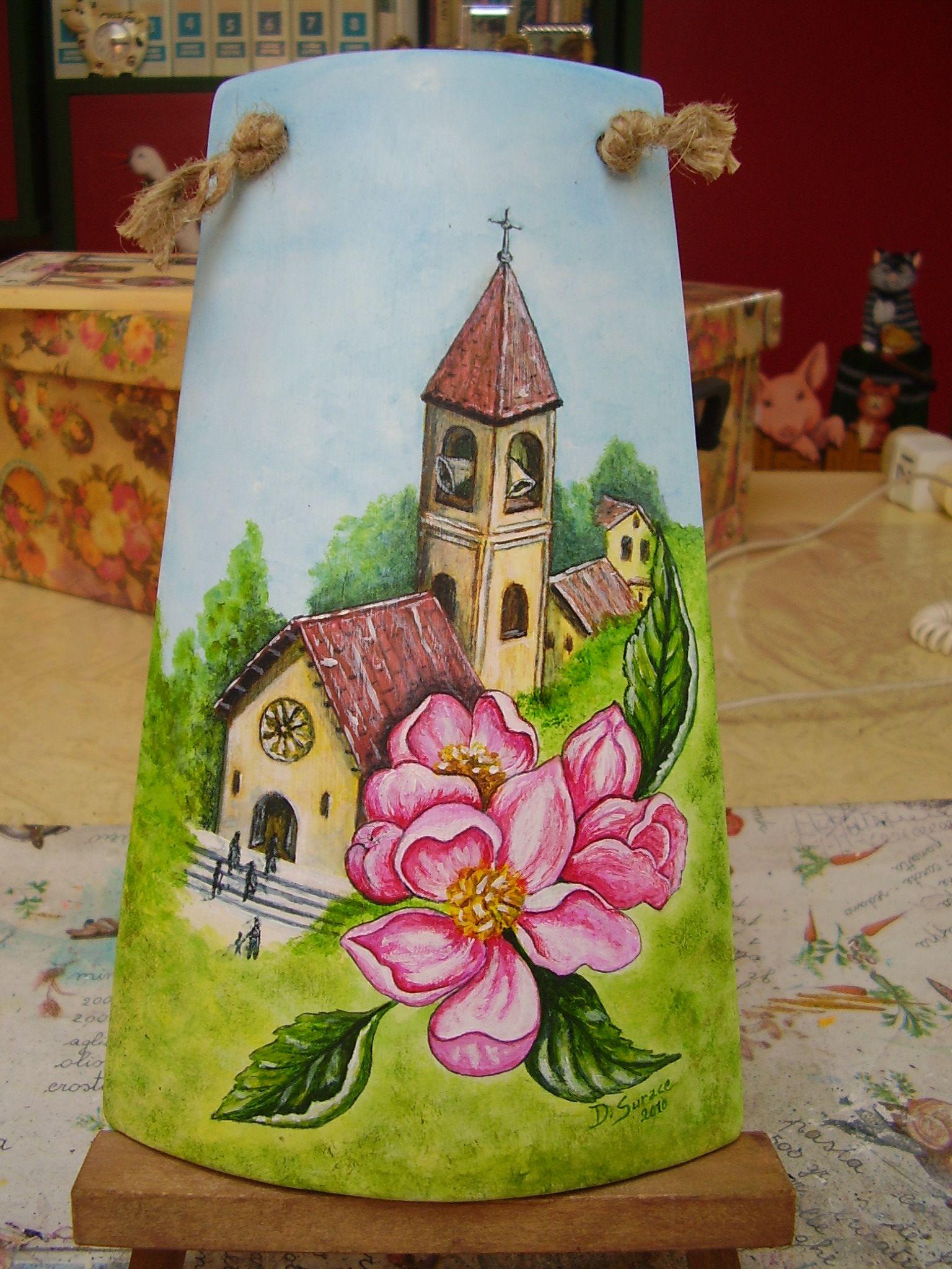 Come Dipingere Vecchie Tegole tegola in cotto dipinta a mano primavera disponibile www