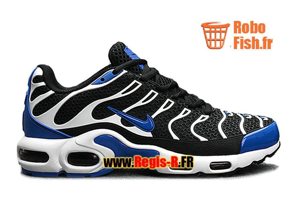 968a168acf4 Nike Air Max Tn Tuned Requin TXT GS (KPU) - Chaussures Nike Pas Cher Pour  Femme Enfant Noir Bleu électrique Blanc 604133-106G