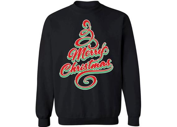 e94266d3 Merry Christmas Sweatshirt Merry Christmas Ugly Christmas Sweater Christmas  Tree Sweatshirt Christma