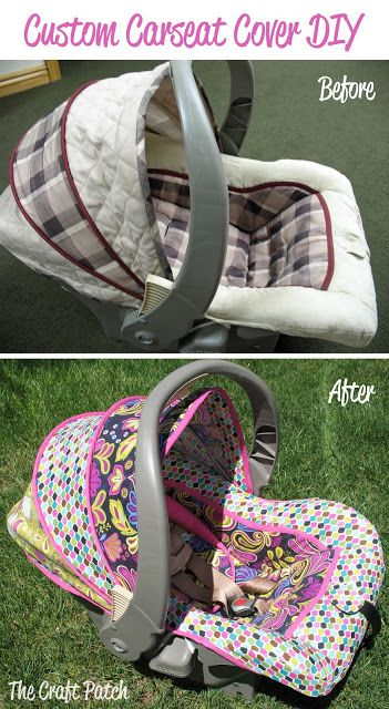 The Craft Patch Sewing DIY Custom Carseat Cover