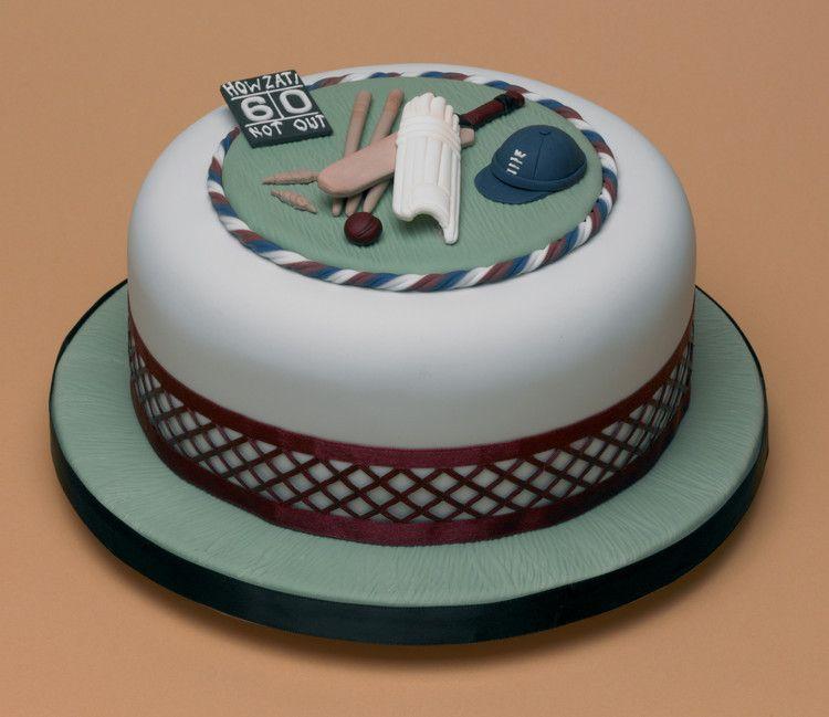 Howzat Cricket Cake By Lesley Bassett Cricket Cake Cricket Birthday Cake Cricket Theme Cake
