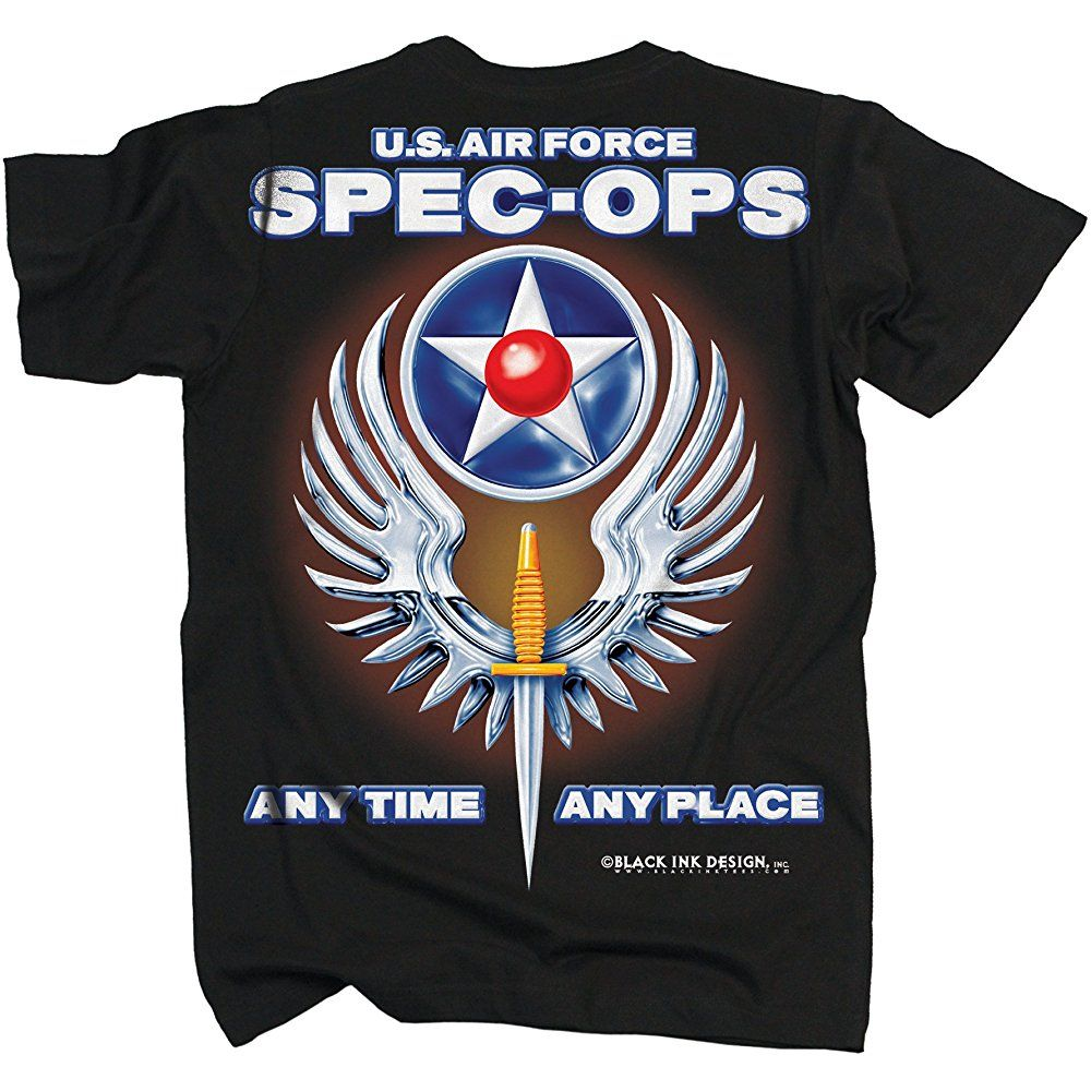 Black Ink Men's USAF Special Operations TShirt Black