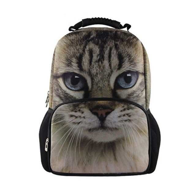 d15c0c9c7b FORUDESIGNS Demin 3D Cat Dog Printing Backpacks for Teenage Girls Laptop  Travel School Backpack Children Bagpack