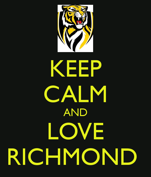 Yellow And Black Always Tiger Football Richmond Football Club Richmond
