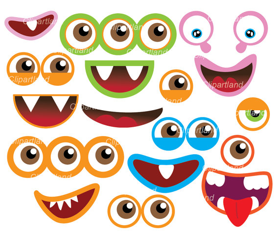 Instant Download Monster Eyes And Monster Mouths Clip Art Cm 11 Personal And Commercial Use Monster Crafts Monster Eyes Monster Photos