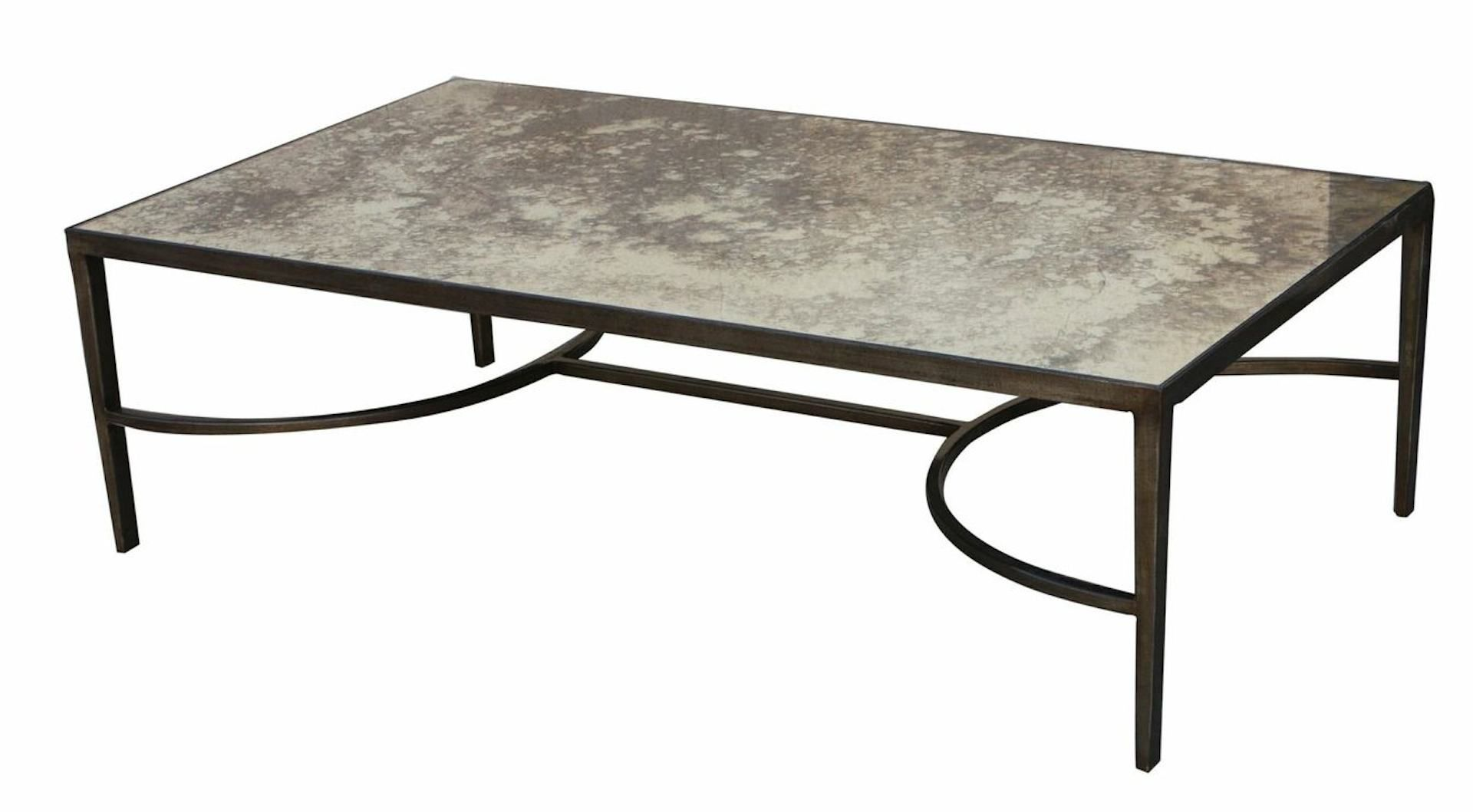 Coffee Table With Antique Mirror Inlay