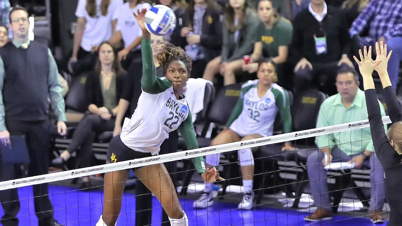 Pressley Headlines Espnw All America Volleyball Team In 2020 Volleyball Team Volleyball Baylor Athletics