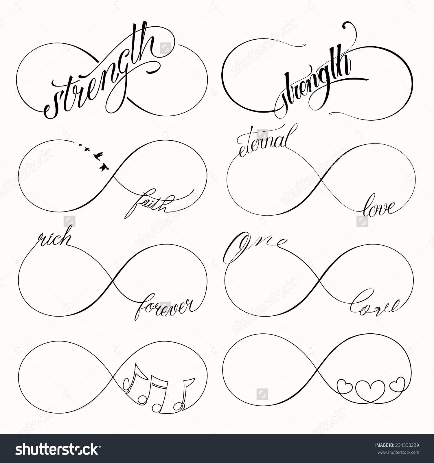Popular Infinity Symbols Tattoo Design Tattoo Ideas Pinterest