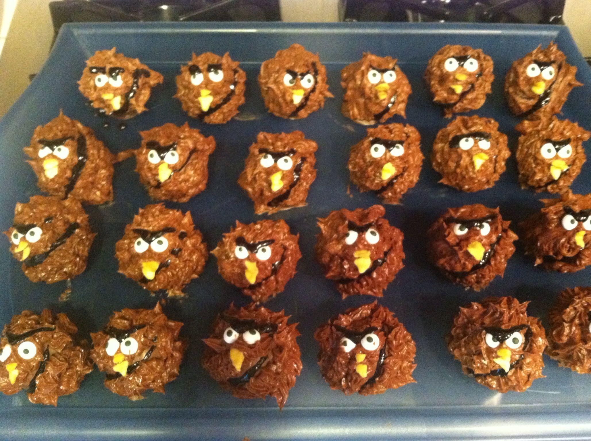 Angry Birds Star Wars Chewbacca Cake Pops
