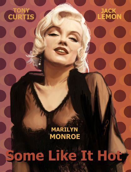 "Vintage ""Some Like It Hot"" movie poster"