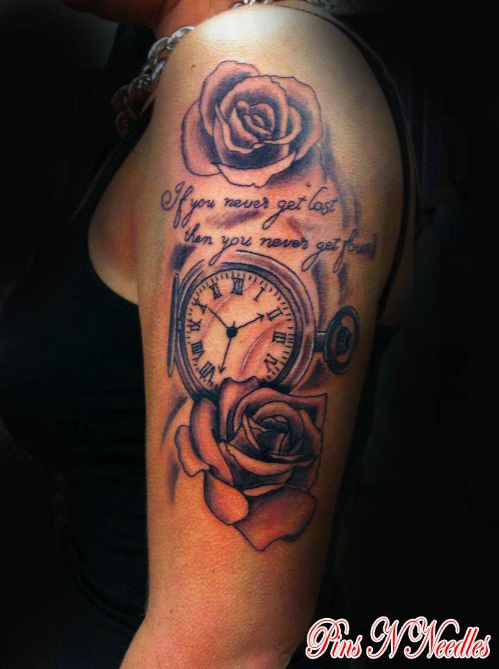 a710127529410 Rose-and-Pocket-Watch   Tattoo Compass, Pocket-Watch And Dream ...