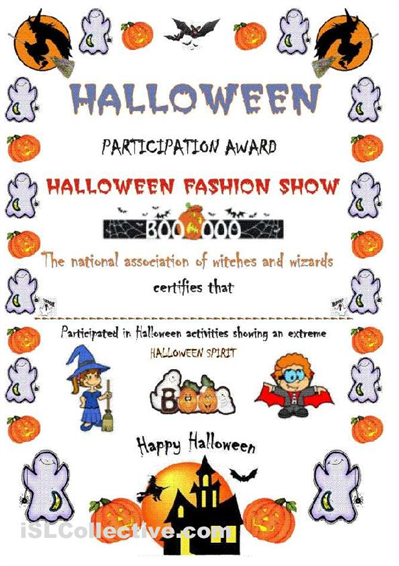 Free printable halloween award certificates its a certificate free printable halloween award certificates its a certificate award about halloween after a yelopaper Images