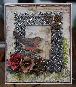 Linnunlauluaja vanhaa metallia.   Sain ilon olla vierailevana Dt:nä Koukussa kortteihin Vintagehaasteessa, jossa aiheena on vanhaa metalli...