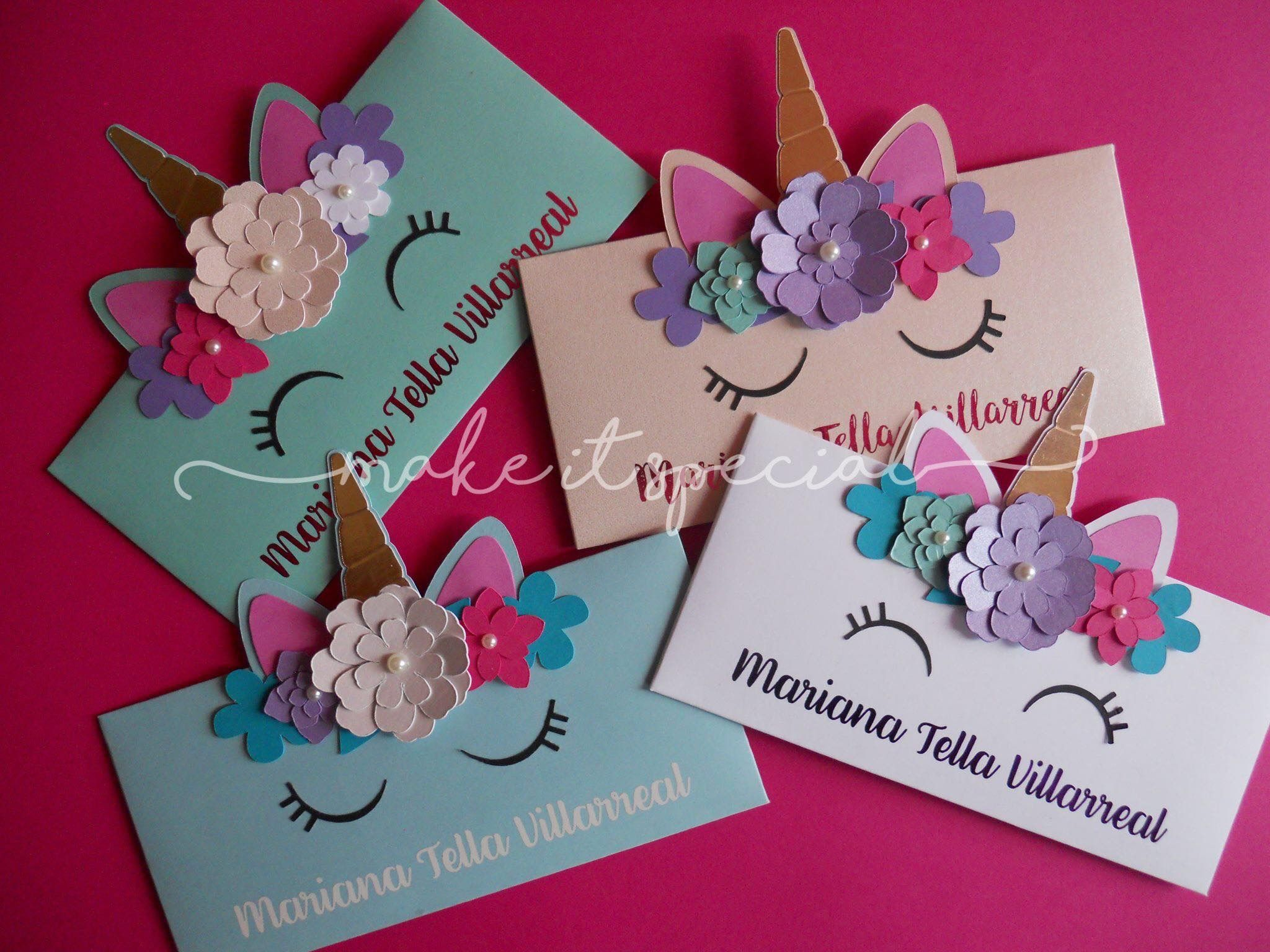 Unicorn Invitations Envelopes Isabella S Second Birthday Party