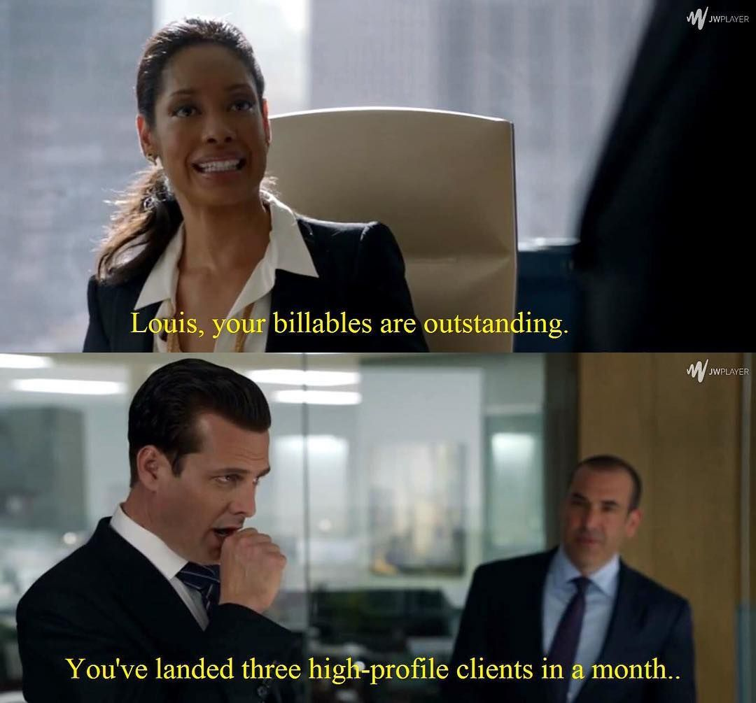 LOL Harvey's face - Jessica/Harvey/Louis - Suits