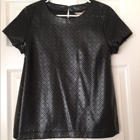 New laser cut faux leather banana republic shirt! Sooooo cute!! I feel like my body doesn't fit right in it sadly, and although I don't want to let go, I should. I only tried it on at home and haven't worn it. I'm jealous of whoever will own this. I saw bloggers wear it too. Banana Republic Tops