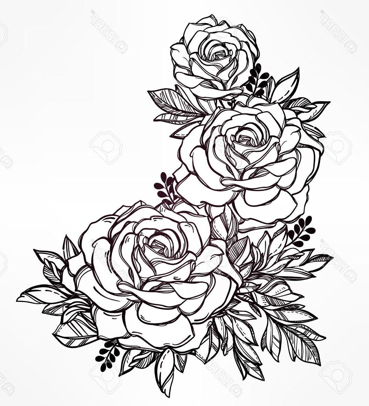 dibujos-para-colorear-de-rosas-bonitas.jpg (1181×1300) | арт ...