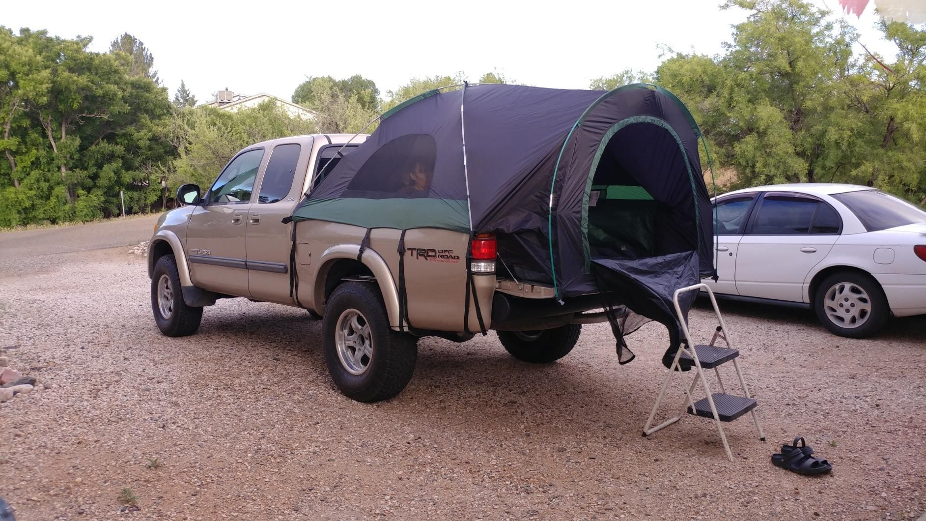 Tundra Truck Bed Camping In 2020 Truck Bed Camping Truck Tent Tundra Truck