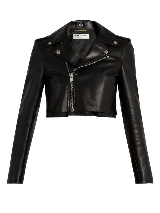 2f40ca9ca3c SAINT LAURENT Cropped Leather Jacket. #saintlaurent #cloth #jacket ...
