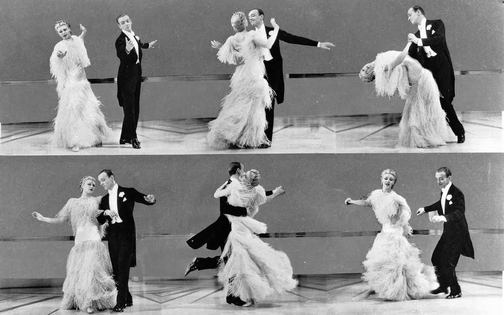 Top Hat (1935)    Heaven, I'm In Heaven,  And my heart beats so that I can hardly speak;  And I seem to find the happiness I seek,   When we're out together dancing cheek to cheek.
