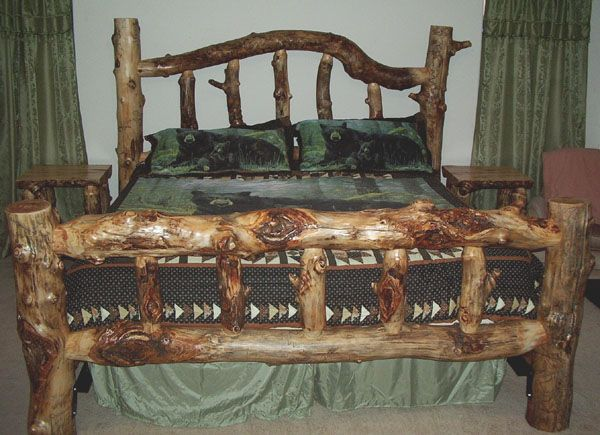 cedar bed frame plans | log frame bed to search for all words in ...