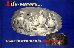 Air Force Pilot Safety Life Savers 1946 - original vintage poster by Walker listed on AntikBar.co.uk