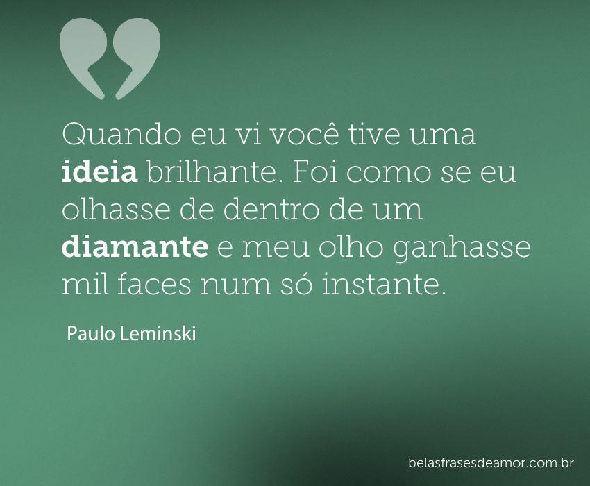 Frases De Amor à Primeira Vista: Romântico ♥ #portugues