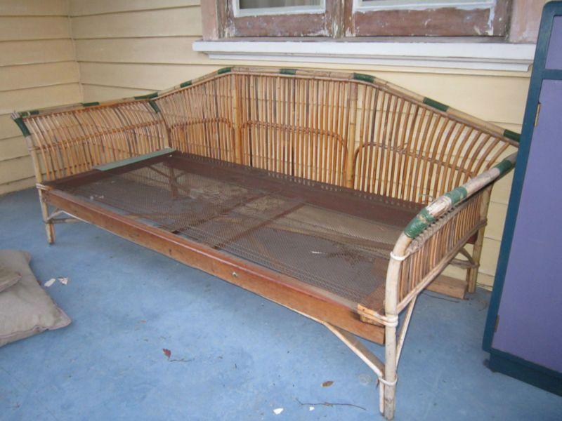 Vintage Cane Lounge/ Daybed | eBay - Vintage Cane Lounge/ Daybed EBay Daybeds Pinterest Daybed