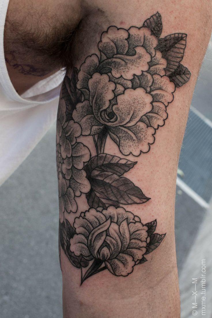 847c68b43 Peony dotwork tattoo | I love ink! | Botanical tattoo, Yantra tattoo ...