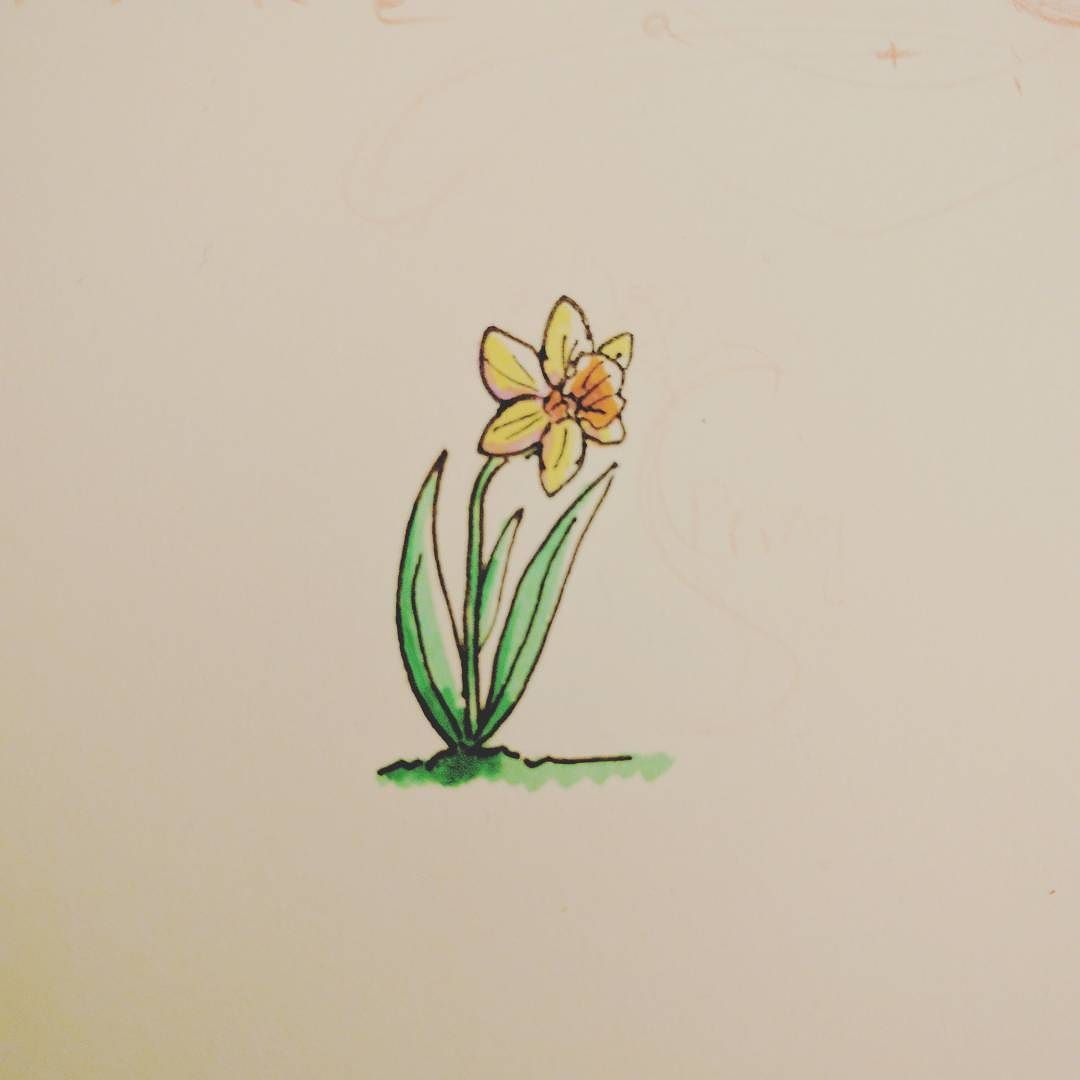 Cant resist those daffs art drawing markers daffodils spring