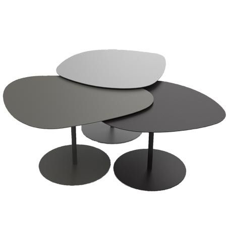 Matiere Grise Table Basse 3 Galets Coffee Table Nesting Coffee Tables Table