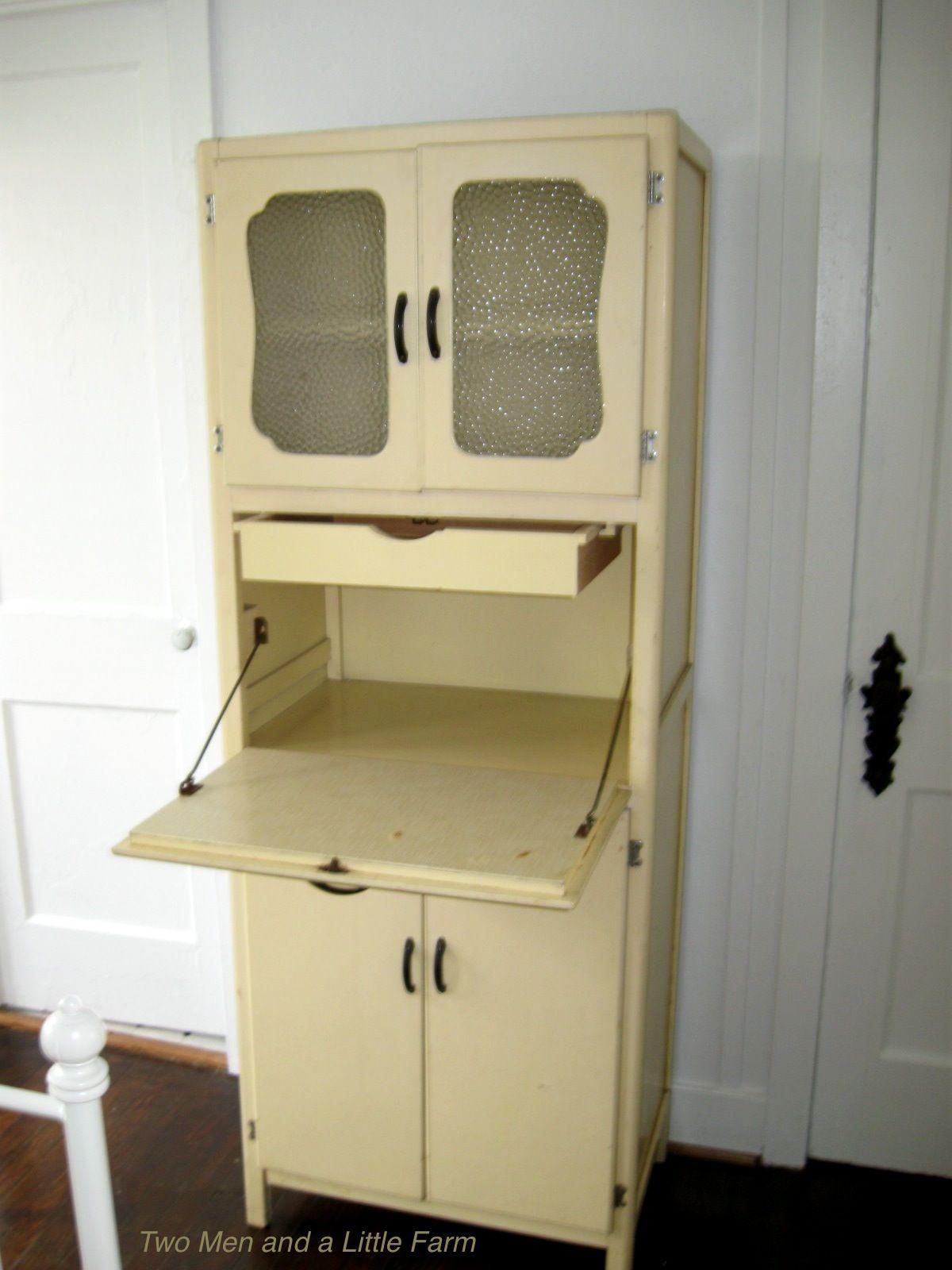 vintage hoosier cabinets | Vintage Yellow Hoosier Style Cabinet ...