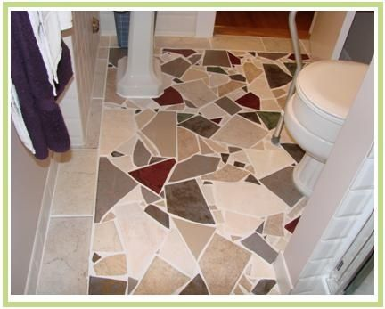 More Broken Tile Mosaic Floor For The Home Pinterest Mosaic Flooring Mosaic Floor Tile Patterned Floor Tiles
