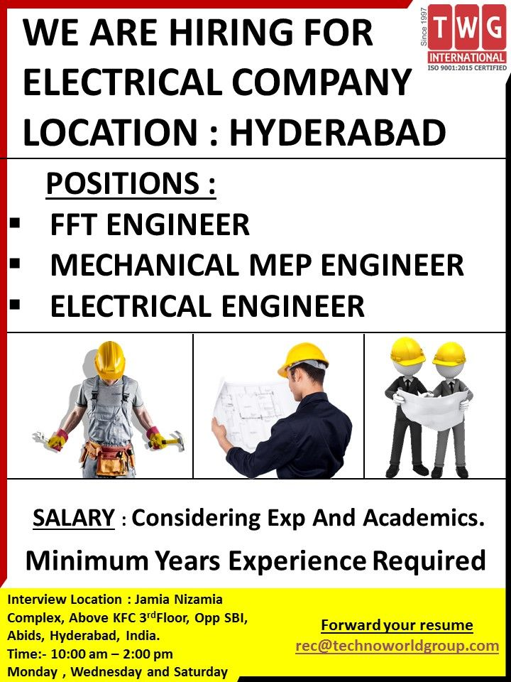 WE ARE HIRING FOR LOCATION