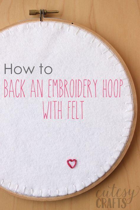 How to Back an Embroidery Hoop with Felt | Bordado, Hilo y Apliques