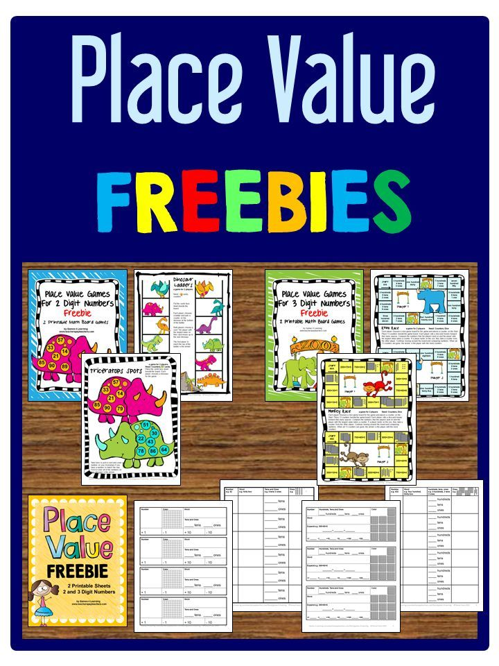 Place Value FREEBIES - Printable board games and worksheets for 2 ...