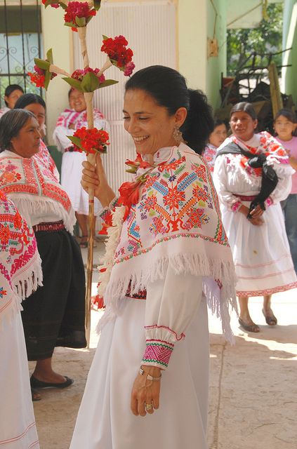 Dancing Woman Mexico in 2019 Quechquemitl Mexico