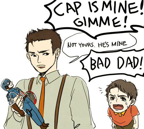 Papa Howard And Kid Tony By Takec On Deviantart Baby Avengers Tony Stark Steve Rogers Man Thing Marvel